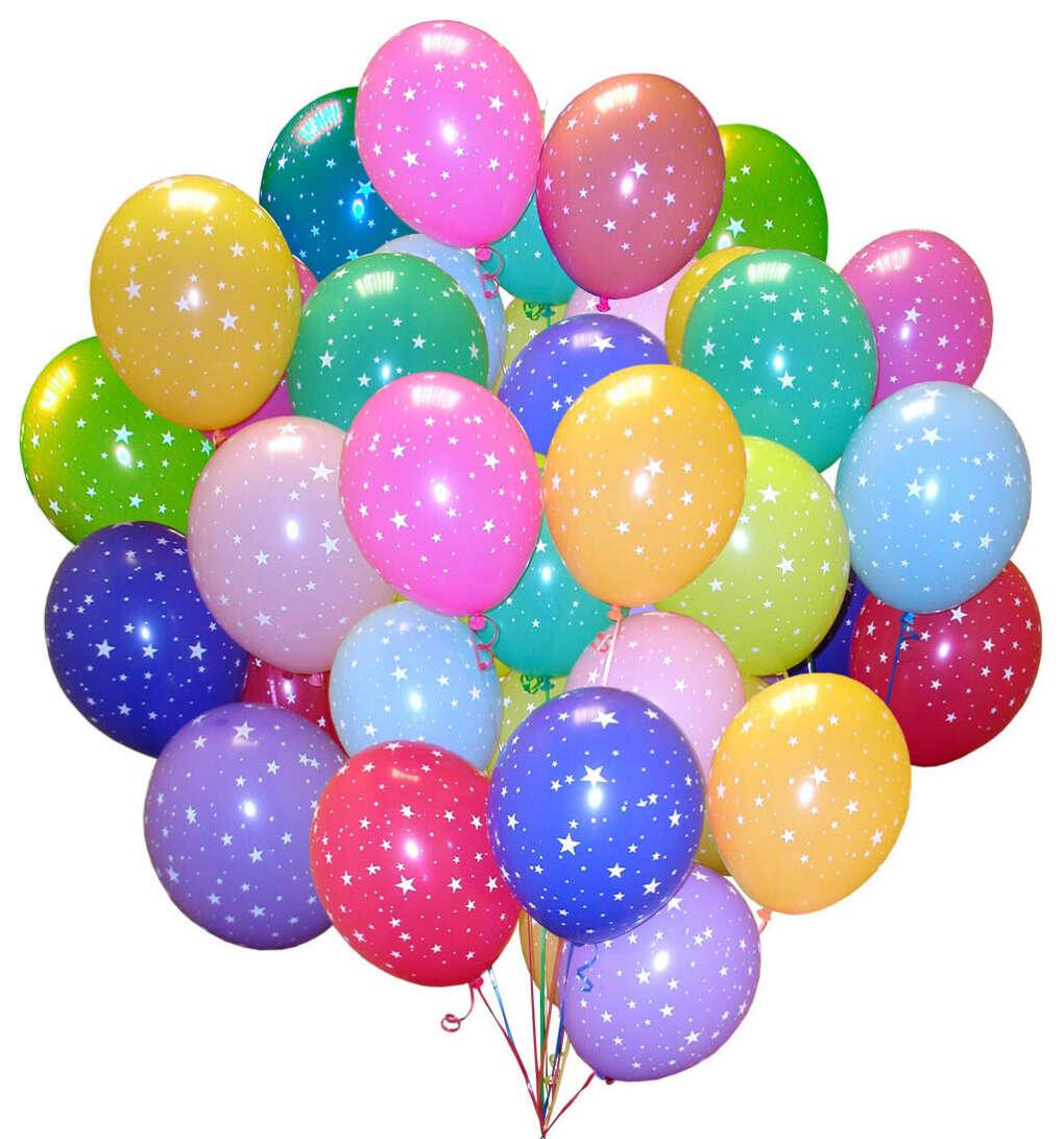 Много воздушных шаров!