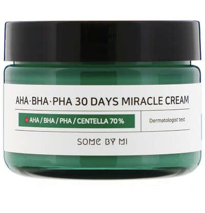 Some By Mi, Крем с кислотами AHA, BHA, и PHA, для устранения несовершенств кожи за 30 дней, 60 г