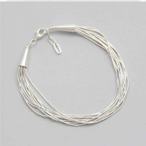 Серебрянный браслет нити