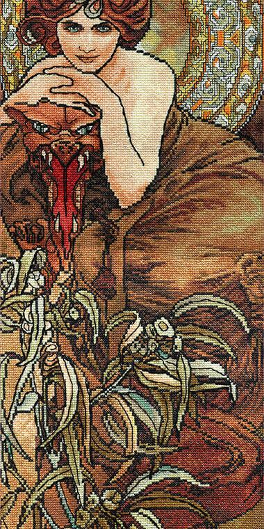 """Набор для вышивания """"PANNA"""" VH-0450 ( ВХ-0450 ) """"Изумруд"""" купить за 927,00 руб. в интернет-магазине Леонардо"""