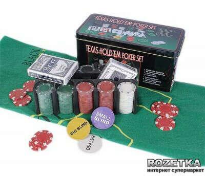 Набор для игры в покер в оловянном кейсе (200 фишек) TC04200D