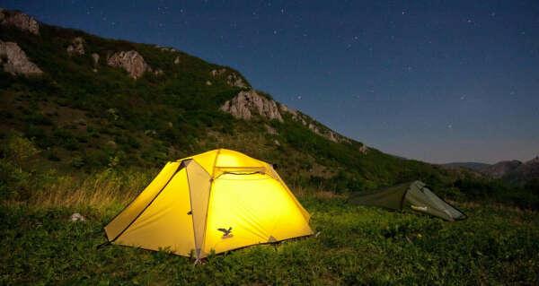 В поход с палаткой в горы