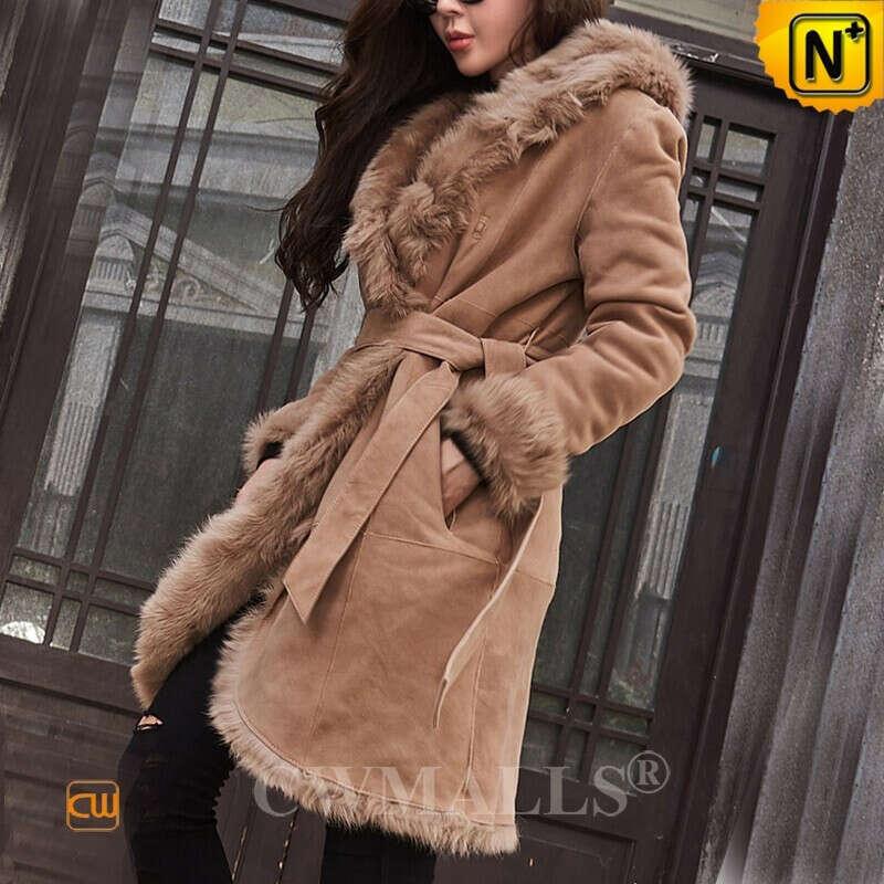 Women Sheepskin Coat   Custom Toscana Shearling Sheepskin Parka CW618019   CWMALLS.COM