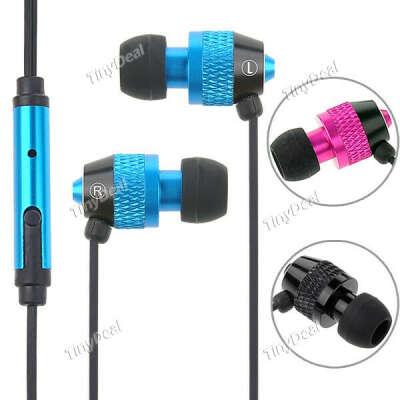 3,5 мм Наушники-вкладыши с микрофоном для iPhone iPod, MP3, MP4