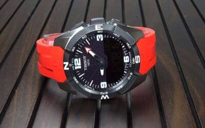 Красный ремешок к часам TISSOT T-TOUCH EXPERT Titanium