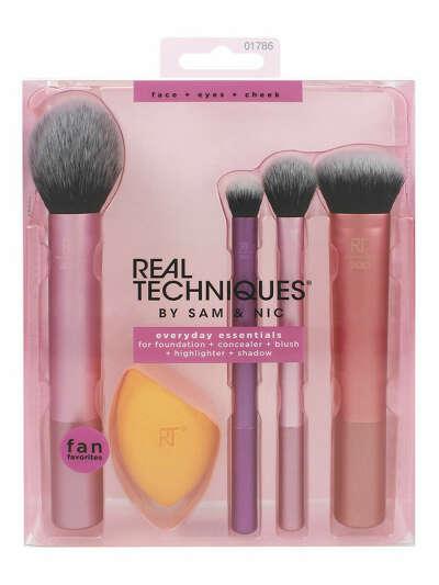 Набор кистей и спонж для макияжа Real Techniques Everyday Essentials