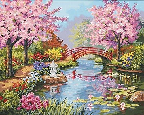 50х40 Картина по номерам с пейзажем