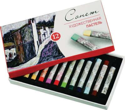 ЗХК Пастель художественная Сонет 12 цветов — купить в интернет-магазине OZON.ru с быстрой доставкой