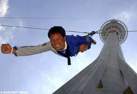 Bungy Jump in Macau tower