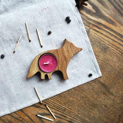 Подсвечник деревянный Woodsy  / Fox