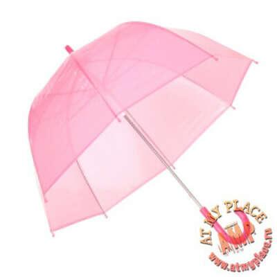 Прозрачный розовый зонт Candy Dome
