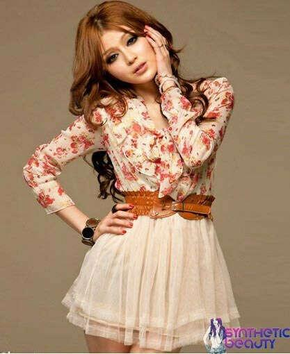Шифоновое платье с топом в розочку