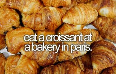 Поесть круассаны в Парижской пекарне