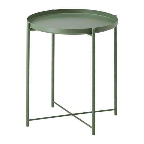 ГЛАДОМ Стол сервировочный - темно-зеленый  - IKEA
