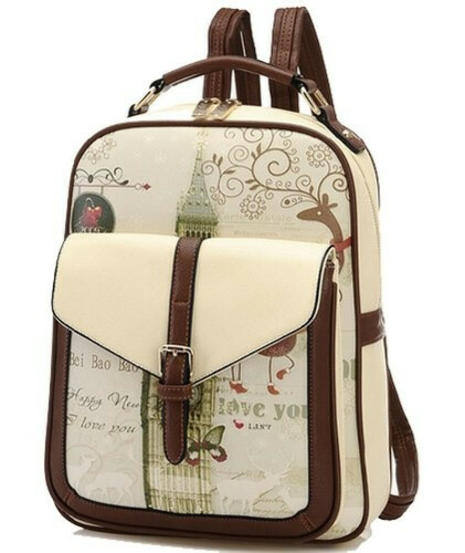 Buenocn Women's Backpack Classic Print Personalized Handbag Backpack Travel Bag Shy513