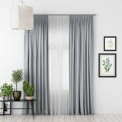 Блэкаут шторы на кухню в светло-серых или светло-сиреневых тонах