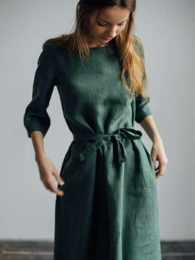БАЗОВЫЕ ПЛАТЬЯ > Базовое хвойное платье купить в интернет-магазине