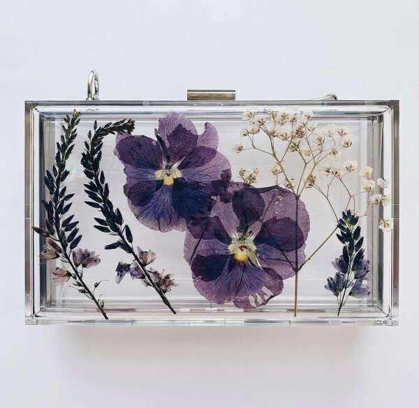 Клатч с сухоцветами