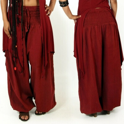 layto exception red cotton comfy saroual harem pants
