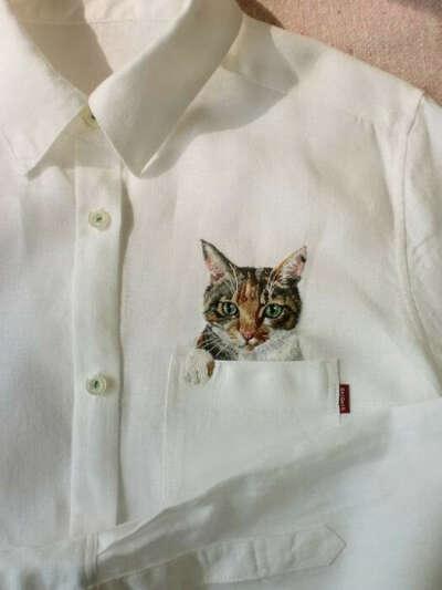 Рубашка с котом в кармане