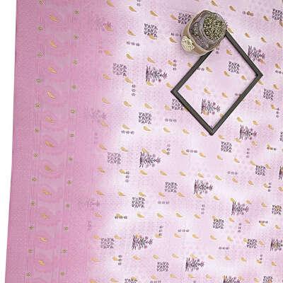 Lavender Digital Print Lucknowi Georgette Fabric