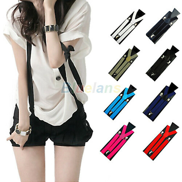1PC New Mens Womens Unisex Clip on Suspenders Elastic Y Shape Adjustable Braces Colorful 0218 2O1L-in Suspenders from Men's Clothing & Accessories on Aliexpress.com | Alibaba Group