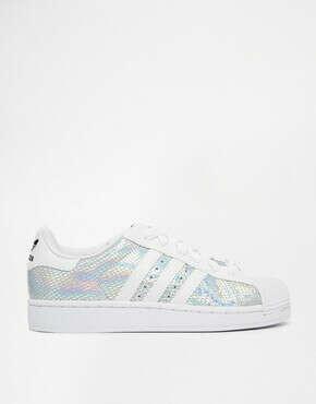 Adidas Originals Superstar II Metallic White Trainers