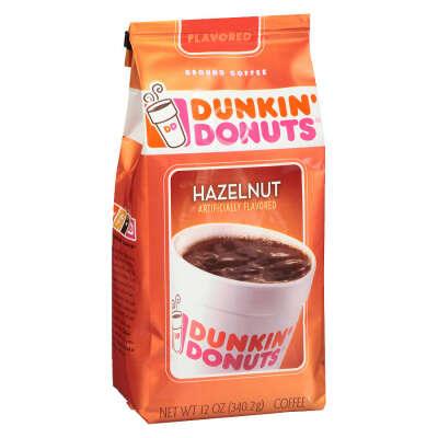 dunkin donuts hazelnut coffee