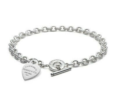 Колье Tiffany & Co Heart tag charm Toggle necklace [0422]