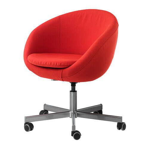 СКРУВСТА Рабочий стул -  , Висле красно-оранжевый  - IKEA