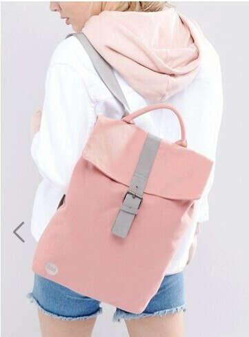 Розовый парусиновый рюкзак с откидным клапаном Mi-Pac