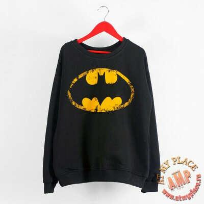 "Черная толстовка-свитшот ""Бэтмен"""