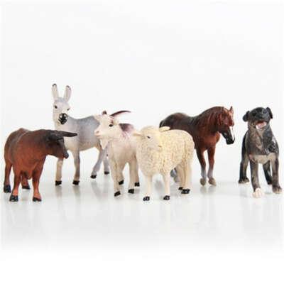 6/12 шт./компл. рисунок животных модель детские игрушки Коллекционные Фигурки игрушки для детей в зоопарке животных Рисунок детские развивающие игрушки купить на AliExpress
