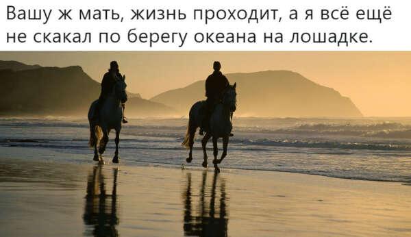Прокатиться на лошадке на закате по берегу океана