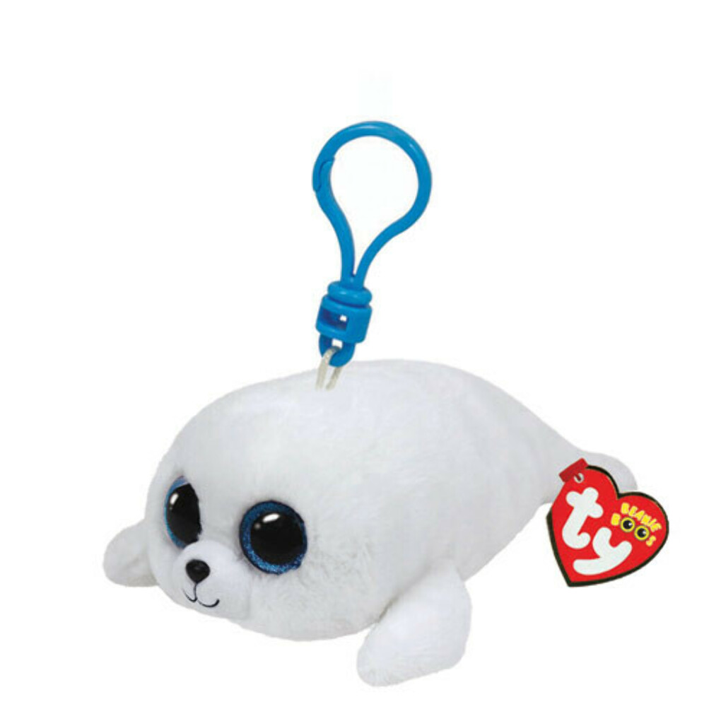 Small TY Beanie Icy the Seal Keyring