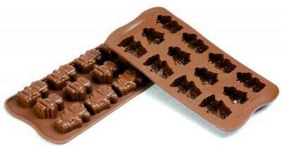 "Форма для шоколада SILIKOMART SCG18 ""роботы"""