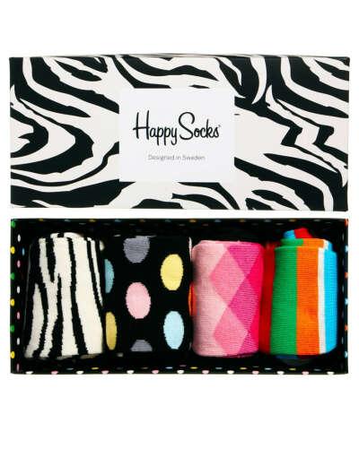 Подарочный набор из 4 пар носков Happy Socks
