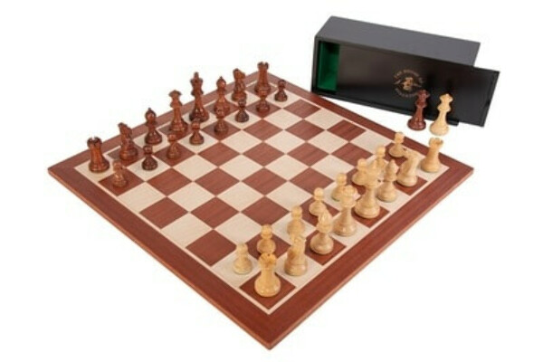 House of Staunton Grandmaster Wood Chess Set with Pieces, Board, & Box