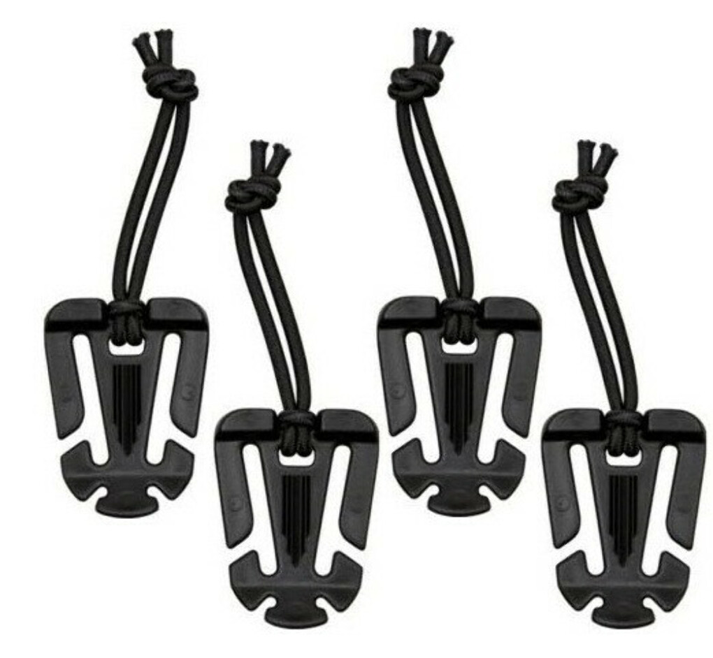 (4) Pack Maxpedition Web Dominator Black [WebDomB] Excess Strap Bongee