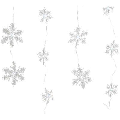 Гирлянда Снежинки LED 120х75 см купить по цене 999 руб. в ОБИ
