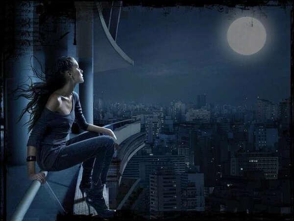 Хочу сидеть ночью на крыше и ни о чём не думать