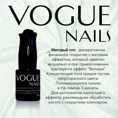 VOGUE Nails Финиш матовый (Матовый топ)