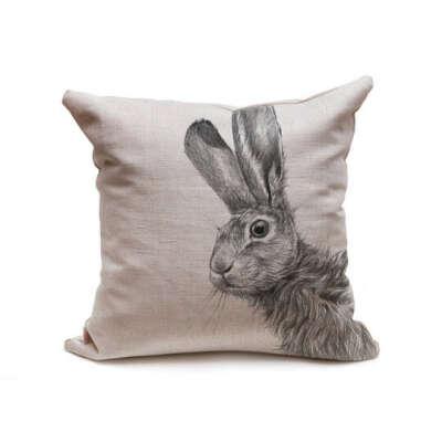 Подушка льняная Заяц