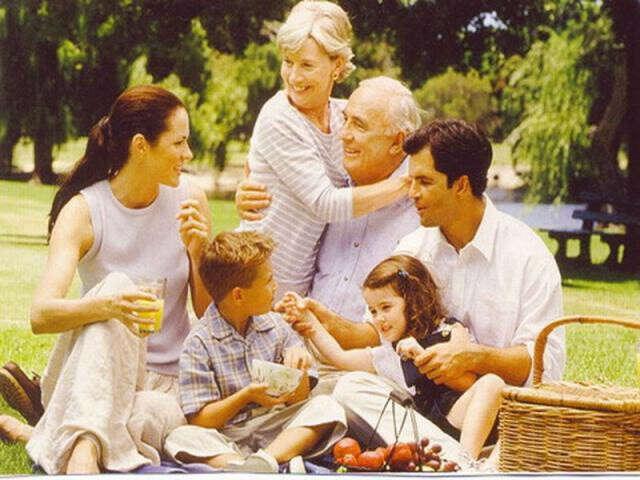 Большая, любящая семья
