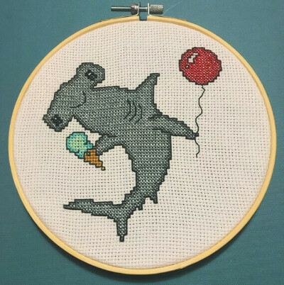 Happy Hammerhead Cross Stitch Pattern