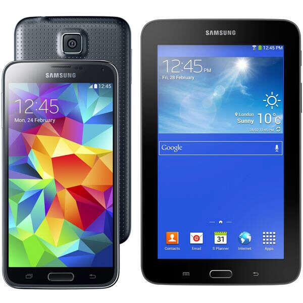 Samsung Galaxy S5 16Gb SM-G900F Black + Tab3 Lite SM-T110