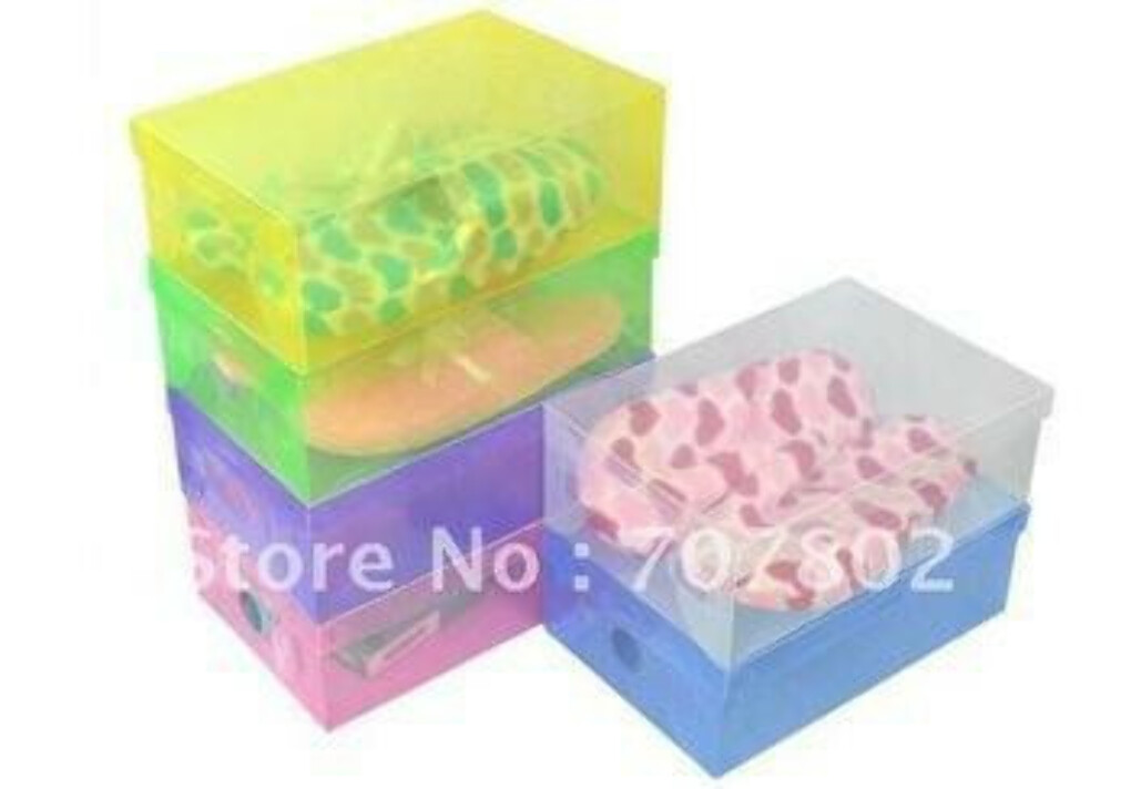Transparent Plastic Shoe Boxes