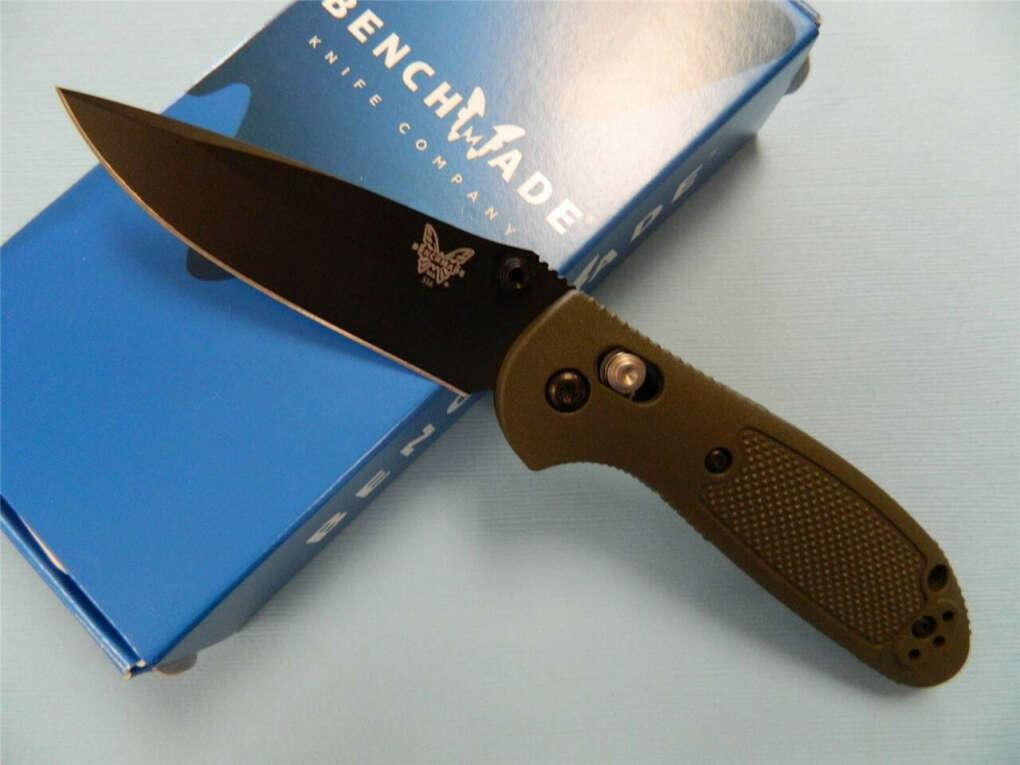 Benchmade 556BKOD Mini Griptilian Folding Knife w/ Axis Lock & 154CM Black Blade