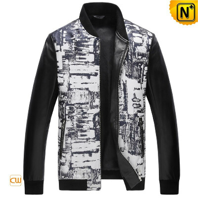 CWMALLS® New York Leather Bomber Jacket CW890027