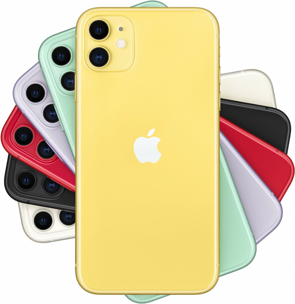 Apple iPhone 11, 256 ГБ, желтый